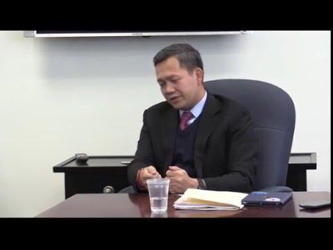 Cambodian Lt. Gen. Hun Manet meets Lowell Sun Editorial Board