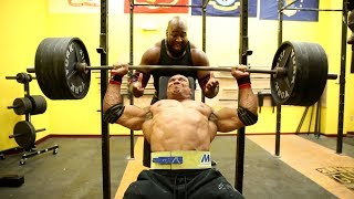 515LB SEATED SHOULDER PRESS! WORLDS HEAVIEST