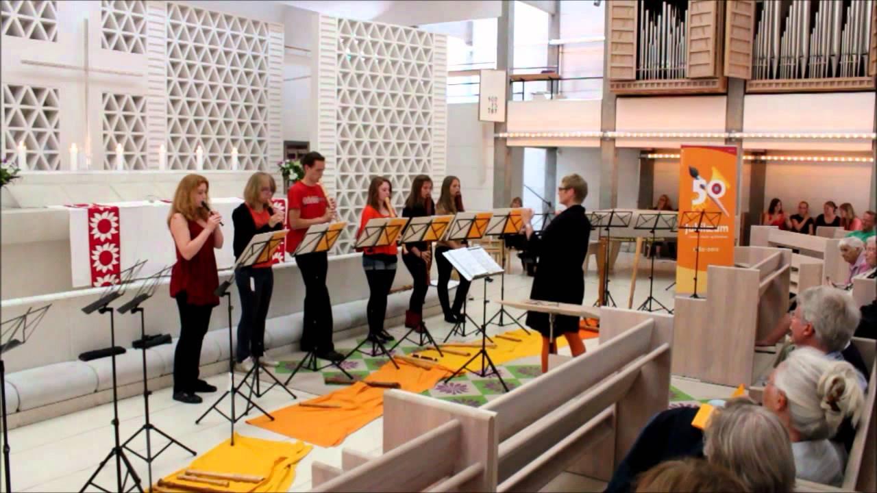 Blokfløjtekoncert i Bagsværd Kirke - Chicken Chowder Rag - YouTube