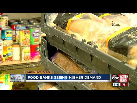 Some local food pantries could run out of food if shutdown lasts too long