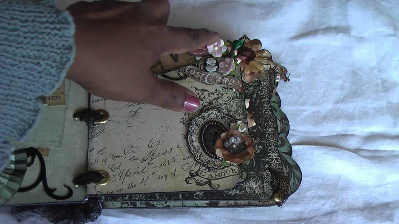 Scrapbooking: Vintage, Shabby Chic Mini Album