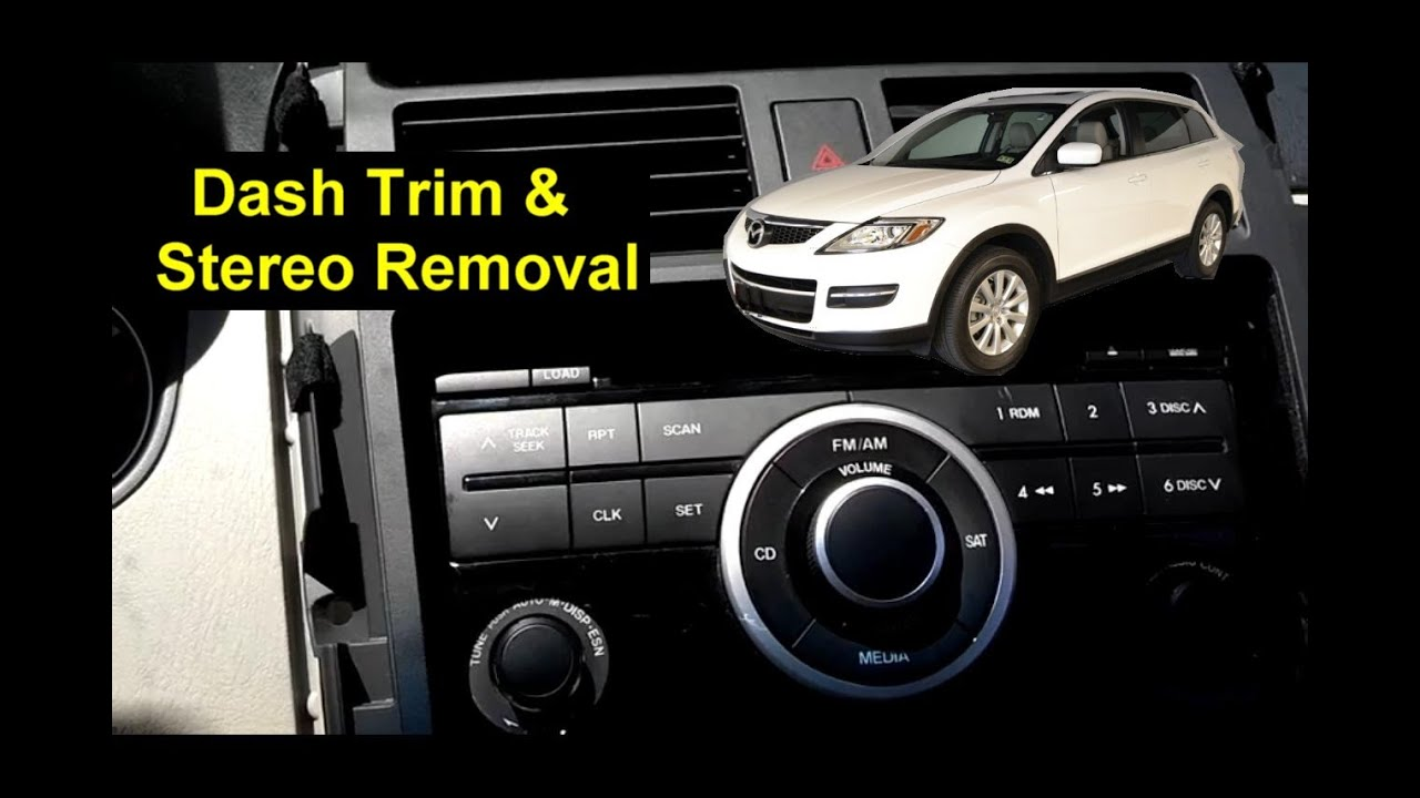 maxresdefault mazda cx 9 stereo removal, replacement auto repair series youtube  at bakdesigns.co