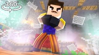 360° Hello Neighbor - NEIGHBOR VISION - Minecraft 360° Video