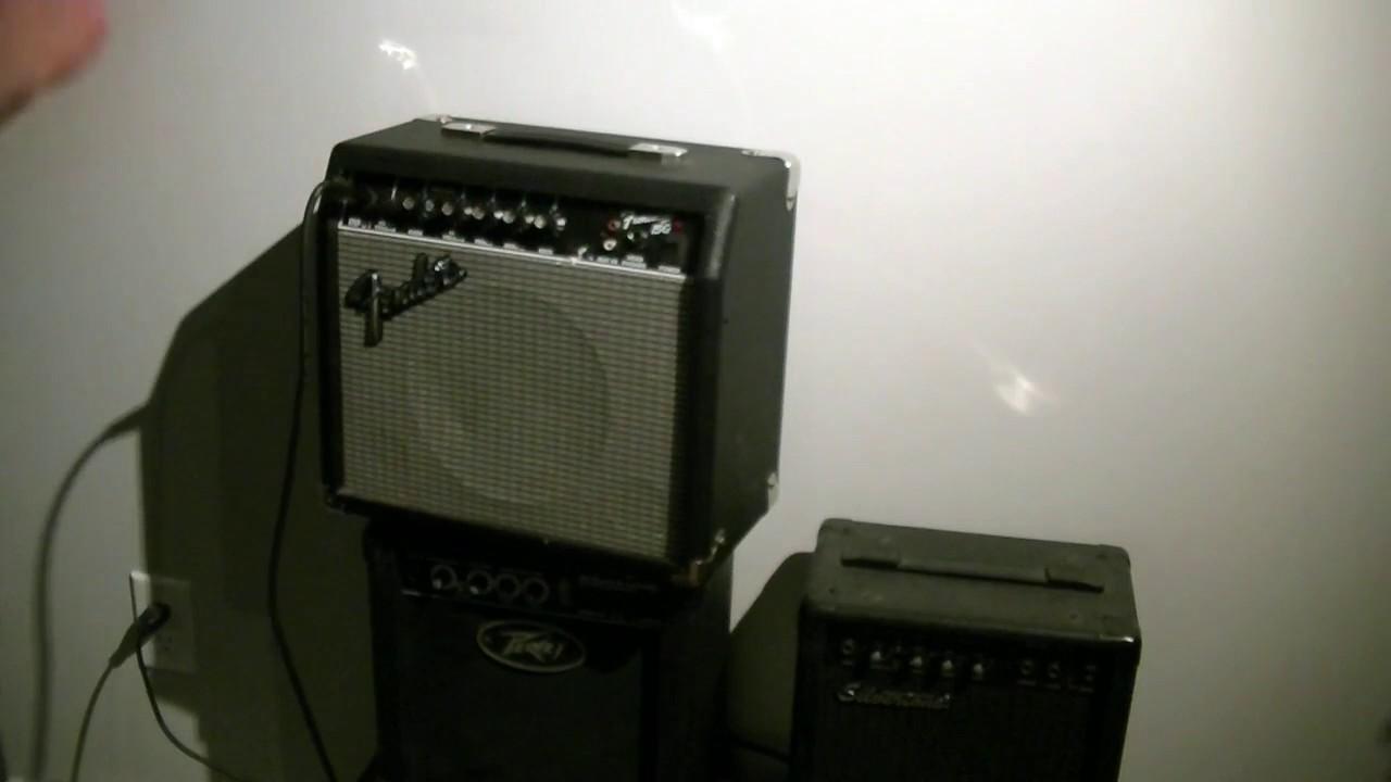 Fender Frontman 15G guitar amp repair test cross your fingers on