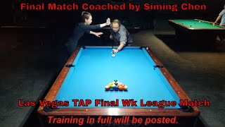 #1 Female World Champion Pool Player Siming Chen coaches Amateur Player in TAP League