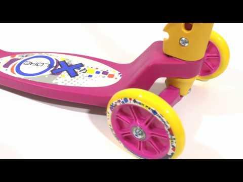 Розовый детский самокат трехколесный от 2 лет обзор
