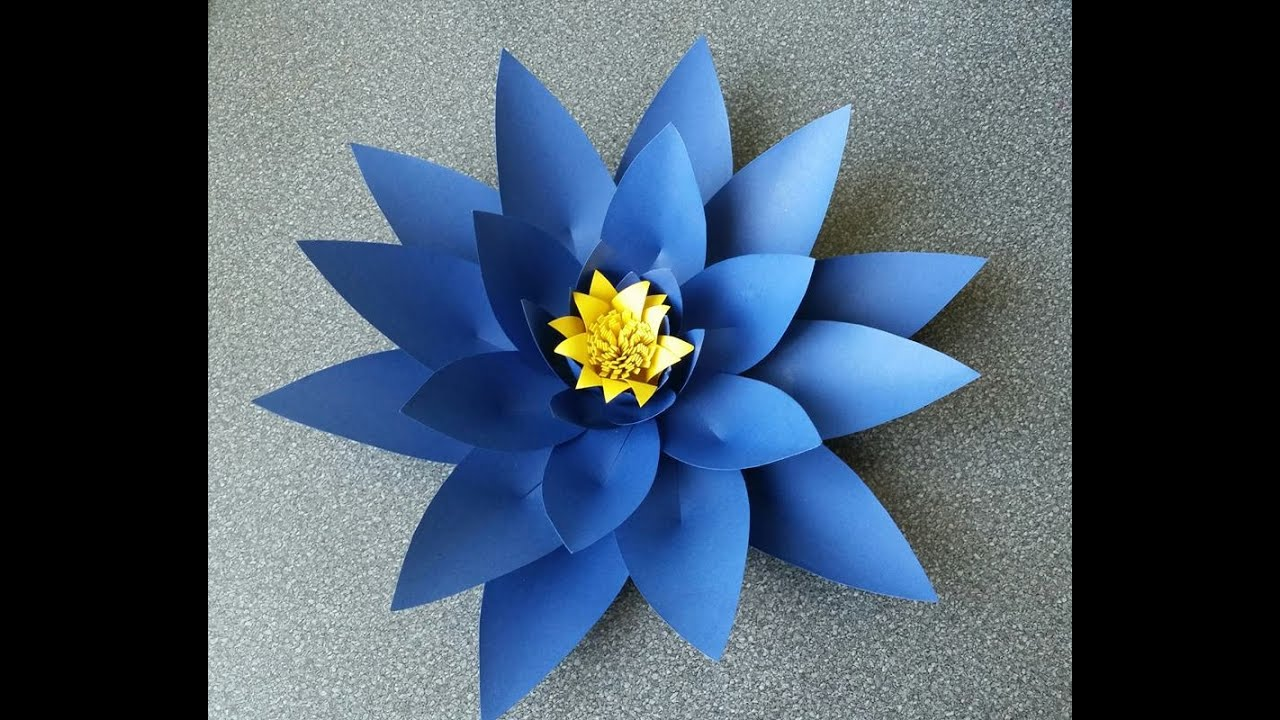 How to make alicia paper flower youtube mightylinksfo