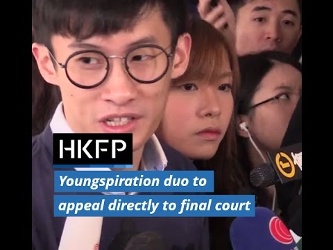 Ousted Hong Kong lawmakers will appeal directly to Court of Final Appeal