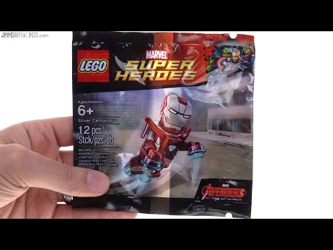 LEGO Iron Man Gamestop exclusive Silver Centurion opened!