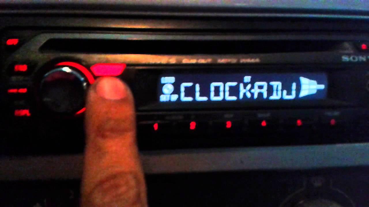 Como Configurar A Hora Do Auto Rdio Cd Player Sony Cdx Gt420 Gt630ui Wiring Diagram Youtube