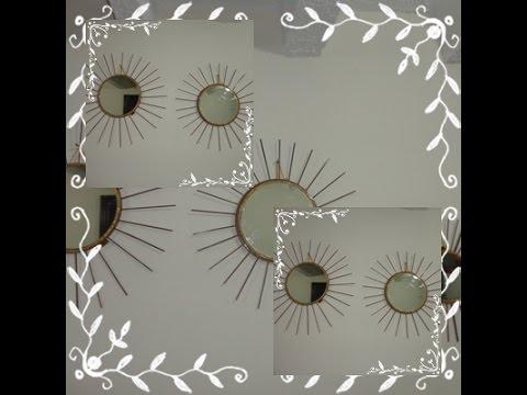 Paso a paso de como hacer un espejo con palillos de pincho for Como hacer espejos decorativos