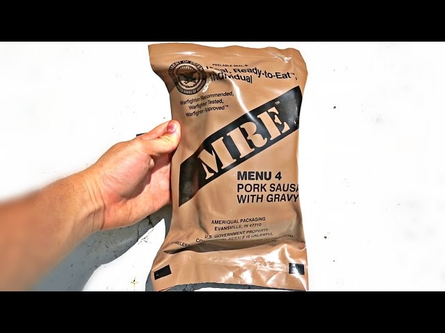 Testing US Military MRE (Meal Ready to Eat)