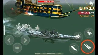 Warship Battle : Boss Attack 1 - 10  with Missouri Mighty + Admiral Officer Set