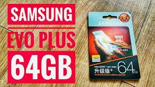 SAMSUNG EVO Plus 64GB MicroSDXC U3 Class Card from China Unboxing & Speedtest [4K Ultra HD]