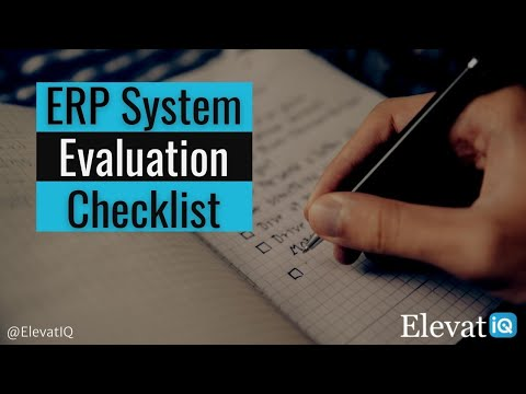 ERP System Evaluation Checklist: Questions to Ask Your ERP Consultant
