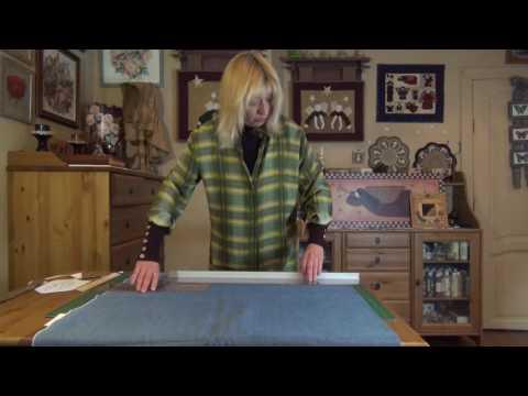 Как отрезать ткань если линейка короткая