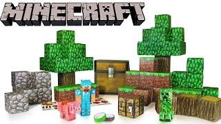 Little Kelly - Toys & Play Doh : MINECRAFT PAPERCRAFT! (Minecraft,mc toys,creeper toy)