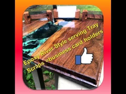 Epoxy River Cutting Board & Mini River Business Card Holders