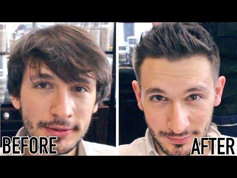 long hair to short hair men