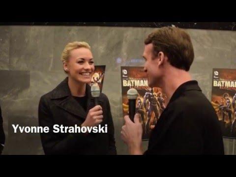 Yvonne Strahovski Interviewed On The Batman: Bad Blood Red Carpet