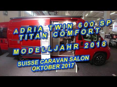 ADRIA TWIN 600 SP TITAN COMFORT, MODELLJAHR 2018, SUISSE CARAVAN SALON 2017
