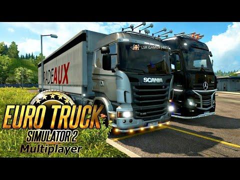 Euro Truck Simulator 2 Online | Um Comboio Super Atrapalhado !!