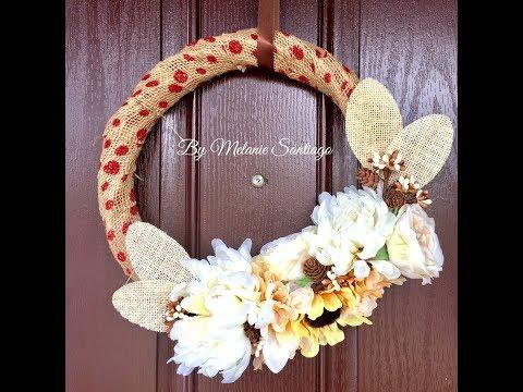 Live, DIY Fall Decor/Fall Wreath Tutorial