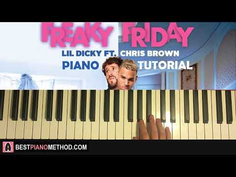 HOW TO PLAY - Lil Dicky - Freaky Friday feat. Chris Brown (Piano Tutorial Lesson)