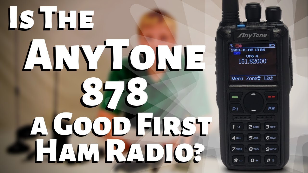 AnyTone AT-D878UV W/GPS & Programming Cable with Support  FREE SHIPPING,  Access to our AnyTone Course on BridgeCom University ($50 value)