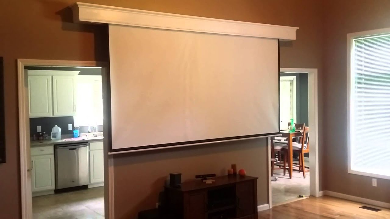 Hidden Projection Screen Project Youtube