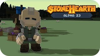 Stonehearth Alpha 23 Gameplay | Alpha 23 Is Here! | Part 1