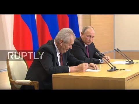 Russia: 'As long as we still get the beer!' Putin & Zeman share sanctions joke