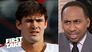 Stephen A. is skeptical Daniel Jones can fill Eli Manning's shoes | First Take