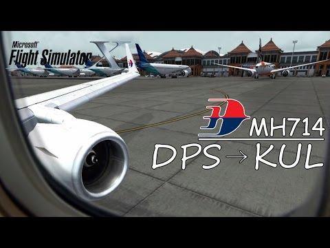 Malaysia Airlines MH 714 | Denpasar Bali to Kuala Lumpur Malaysia | Boeing 737 [FSX HD]