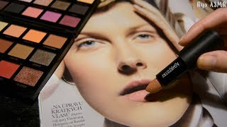 ASMR│Applying Makeup to Magazine│Whispered