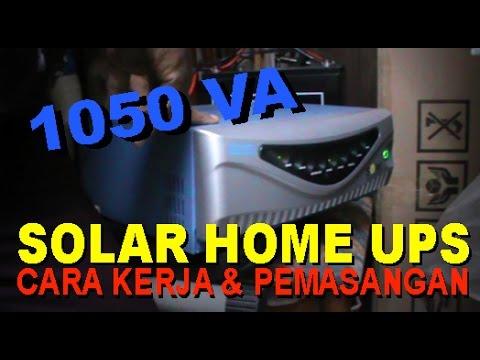 Cara Kerja Inverter Listrik Hybrid Luminous 1050 VA - UPS dg Tenaga Surya (Solar Cell)