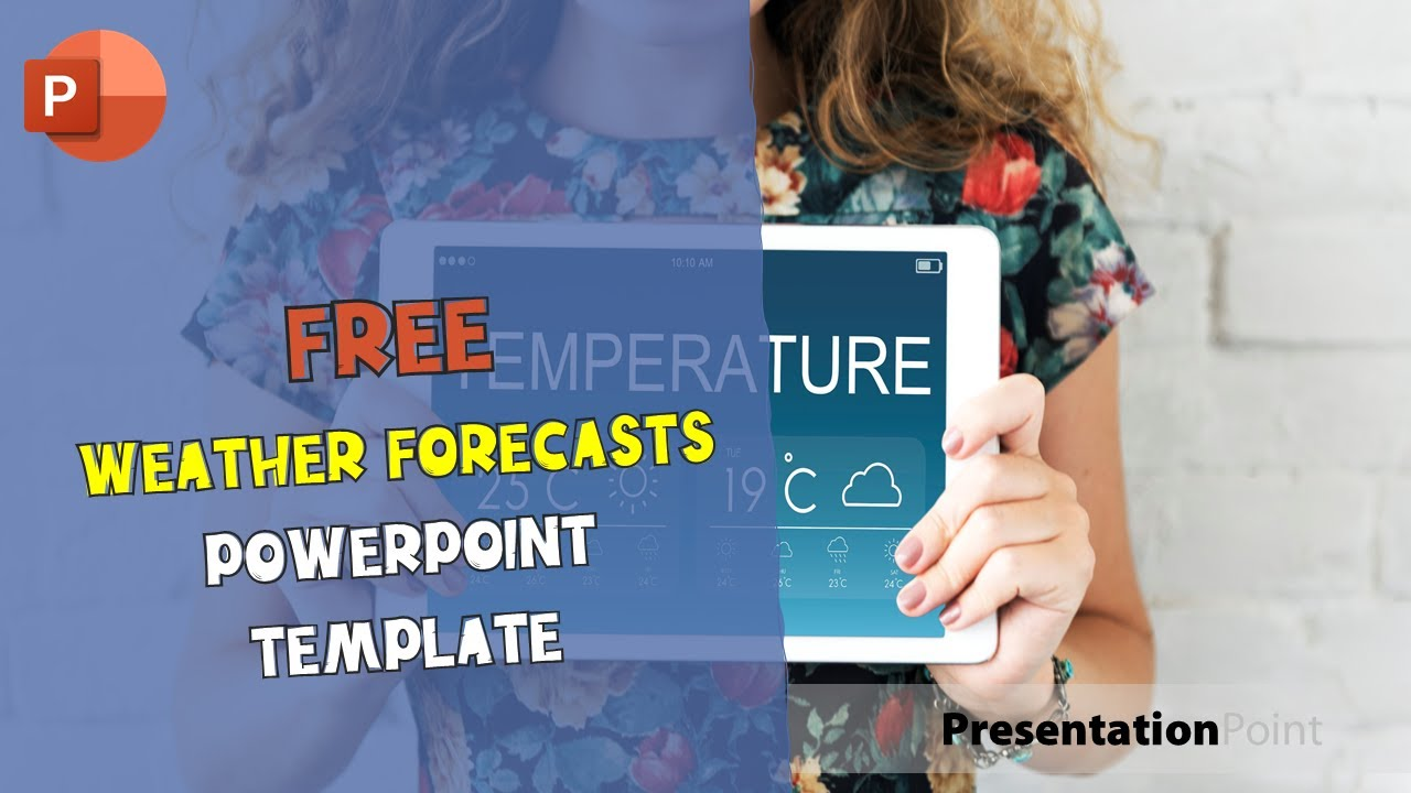 free weather forecasts powerpoint template youtube. Black Bedroom Furniture Sets. Home Design Ideas