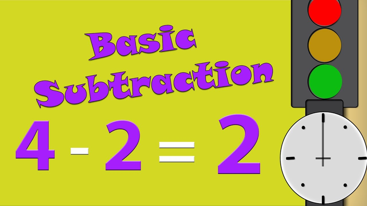 Learn Basic Subtraction For Kids | Math Lessons - Subtract Numbers ...