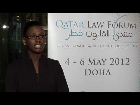Monde Michelo Marshall, Junior Lawyer at the Qatar Law Forum 2012