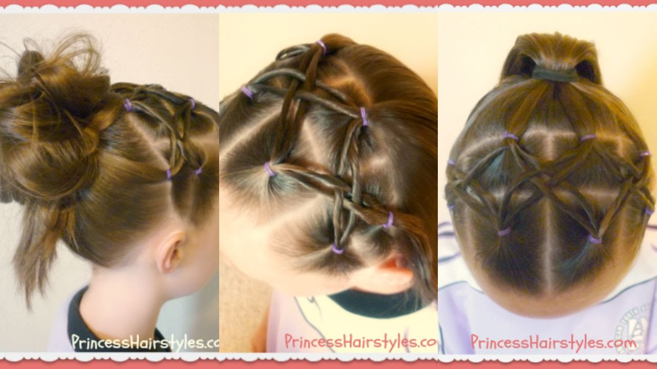 Woven Twist Headband Hairstyle For Soccer Gymnastics Sports