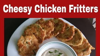 Cheesy Chicken Fritters Recipe at Home