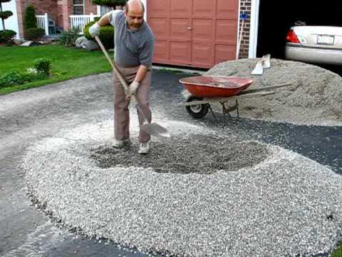 Phase 1 Of Patio: Make The Gravel Base