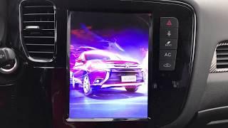 Тесла чудо магнитола. Mitsubishi Outlander III. Климат заработал.