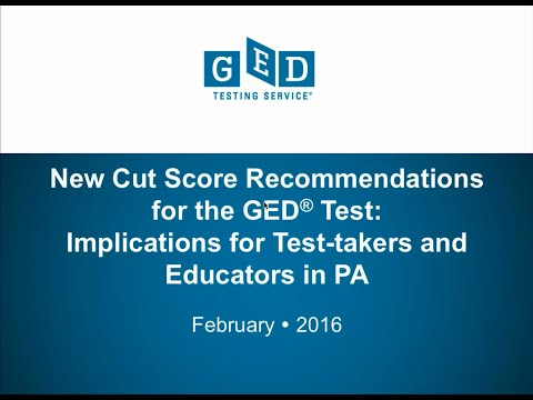 GED Testing Program in Pennsylvania: A Closer Look at the Scoring Enhancements