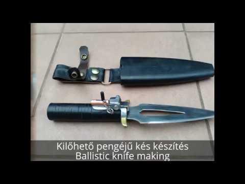 Homemade ballistic knife making and shooting