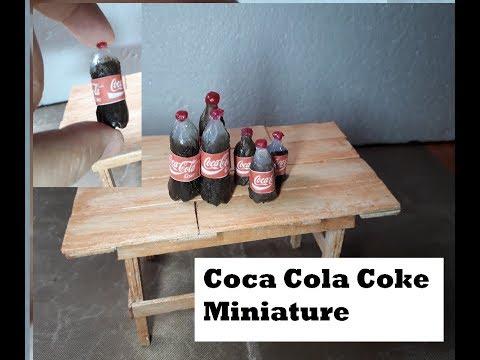 Coca Cola Coke Miniature Tutorial using Resin and  Hot Glue Stick/Polymer clay Tutorial