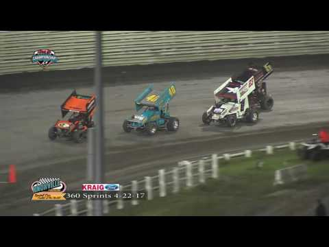 Knoxville Raceway 360  Highlights April 22, 2017