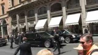 Bush Car Failure In Rome  / Guasto macchina Bush a Roma