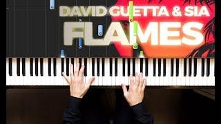 Baixar David Guetta & Sia - Flames   Piano cover   Sheets   Midi