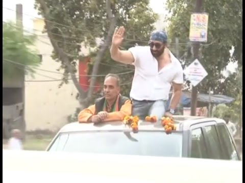 Actor Sunny Deol Holds Roadshow for Satyapal Singh in Baghpat